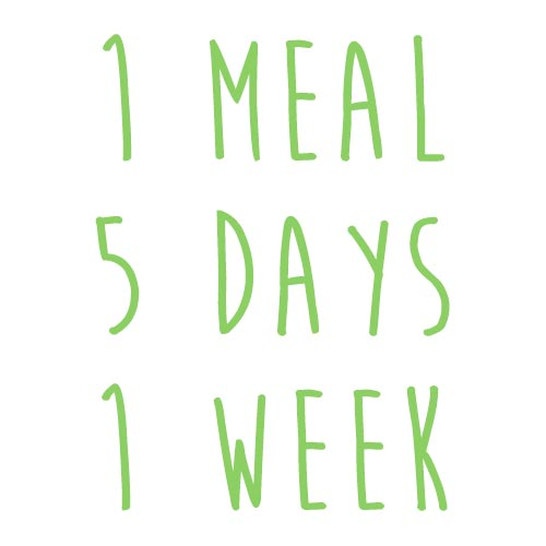 Product option: 1 Meal for 5 Days (1 Week)