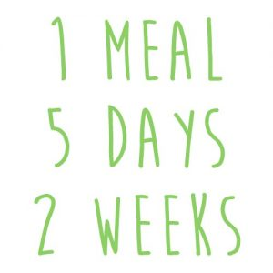 Product option: 1 Meal for 5 Days (2 Weeks)