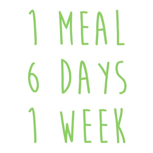 Product option: 1 Meal for 6 Days (1 Week)