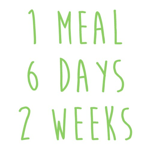 Product option: 1 Meal for 6 Days (2 Weeks)