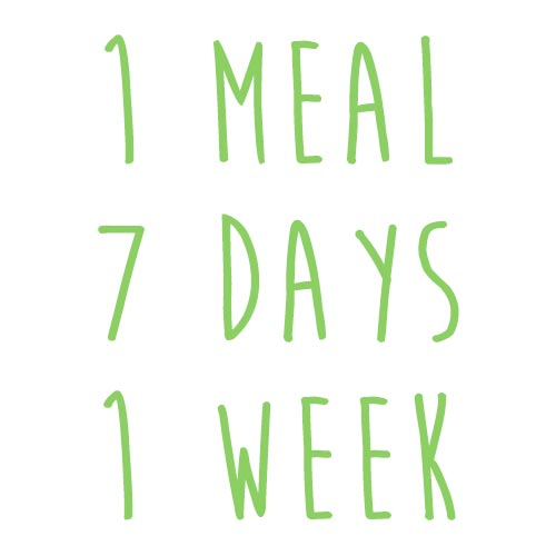Product option: 1 Meal for 7 Days (1 Week)