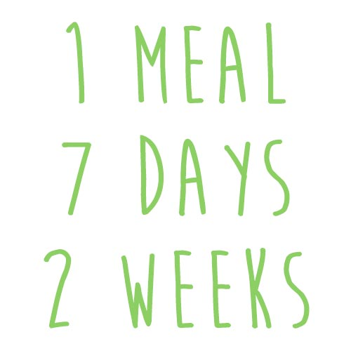 Product option: 1 Meal for 7 Days (2 Weeks)