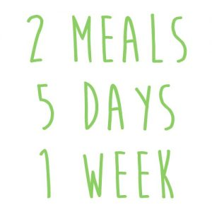 Product option: 2 Meals for 5 Days (1 Week)