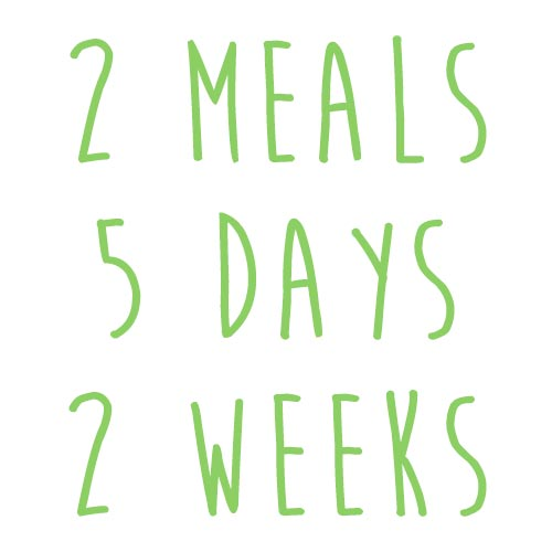 Product option: 2 Meals for 5 Days (2 Weeks)