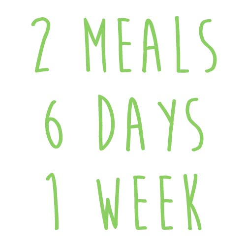 Product option: 2 Meals for 6 Days (1 Week)