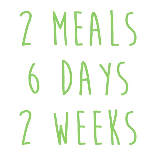 Product option: 2 Meals for 6 Days (2 Weeks)