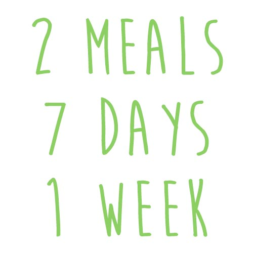 Product option: 2 Meals for 7 Days (1 Week)