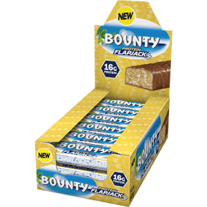 Box of Bounty Flapjack Protein Bars