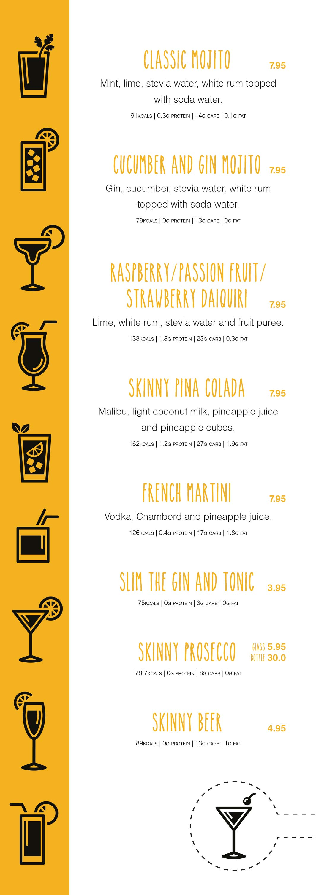 Bar Menu (Edinburgh only)